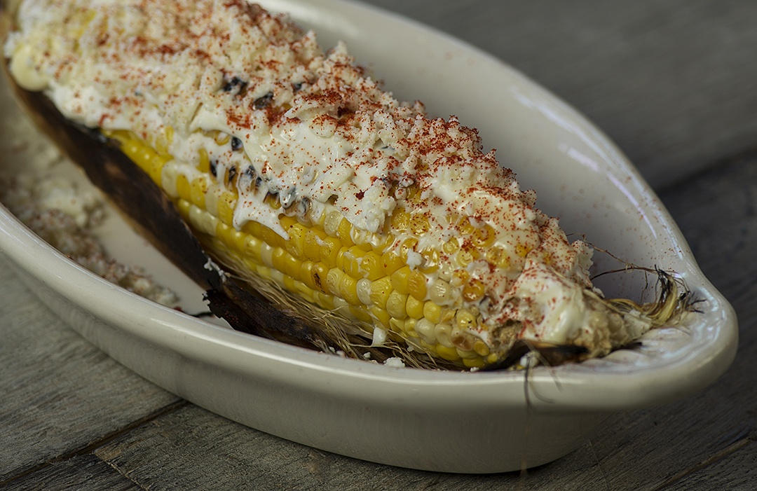 Elote with Queso Cotija and Crema