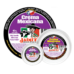 Medium Product label Crema Mexicana