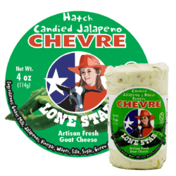 Goat Cheese Candied Jalapeno high resolution label